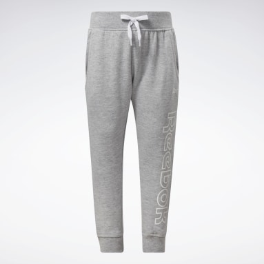 Girls Fitness & Training Grey Reebok Outline Jogger Pants
