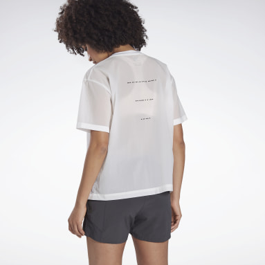 Women Running White Night Run Woven Shirt