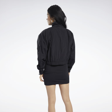 Women Classics Black Classics Cropped Track Jacket