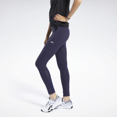 Women Trail Running Purple Reebok Lux Perform Tight