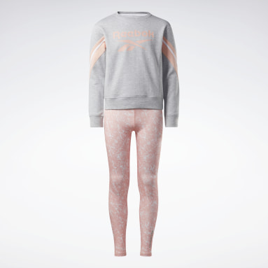 Ensemble Reebok Marble Gris Girls Fitness & Training