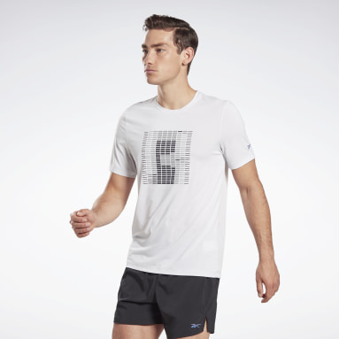 Men Running White Run ACTIVCHILL Graphic Tee