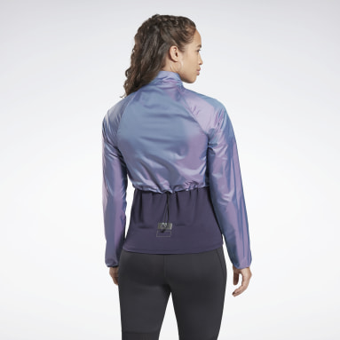 Women Running Purple One Series Running Night Run Jacket