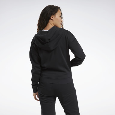 Bluza z kapturem Training Essentials Full-Zip Czerń