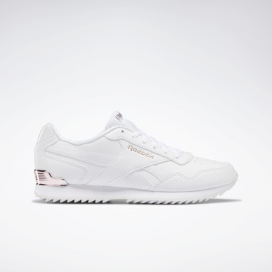 Kvinder Classics White Reebok Royal Glide Ripple Clip Shoes