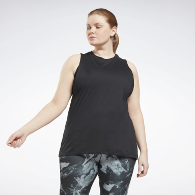 Women Fitness & Training Black Workout Ready MYT Muscle Tank Top (Plus Size)
