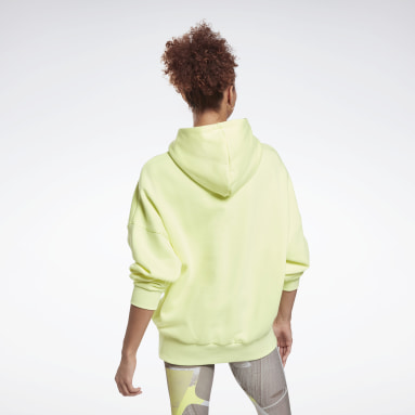 Women Studio Yellow Retro Oversize Hoodie