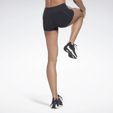 Women Gym & Training Black United By Fitness Chase Bootie Shorts