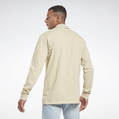Heren Classics Beige Classics Natural Dye Long Sleeve Shirt