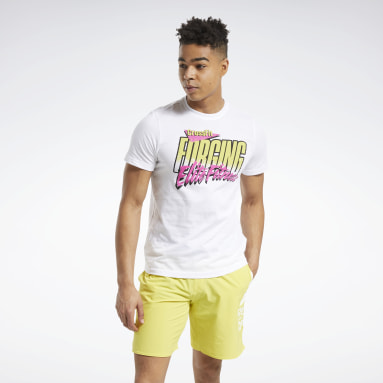 RC 90s Cali Tee Blanco Hombre Cross Training