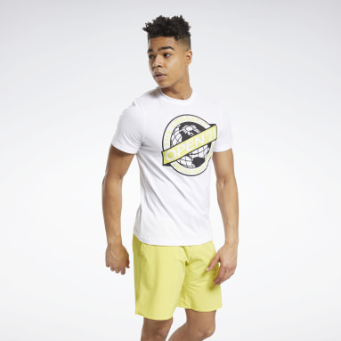 Men Cross Training White Reebok CrossFit® Open 2021 Tee