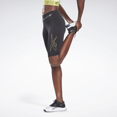 Women Cycling Black LES MILLS® Bike Shorts