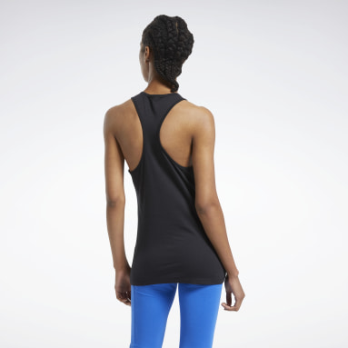 Women Fitness & Training Black Training Essentials Graphic Tank Top