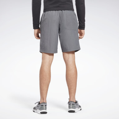 Men Hiking Grey Training Essentials Utility Shorts