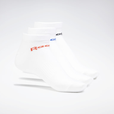 Running White Active Core Ankle Socks 3 Pairs