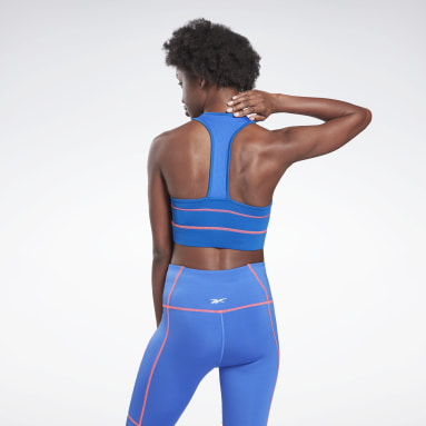 Women Training Blue Workout Ready Detail High Neck Sports Bra