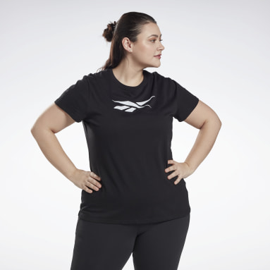 Women Fitness & Training Black Graphic Vector T-Shirt (Plus Size)