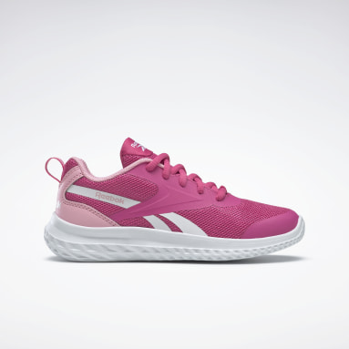 Girls Running Pink Reebok Rush Runner 3 Shoes - Preschool