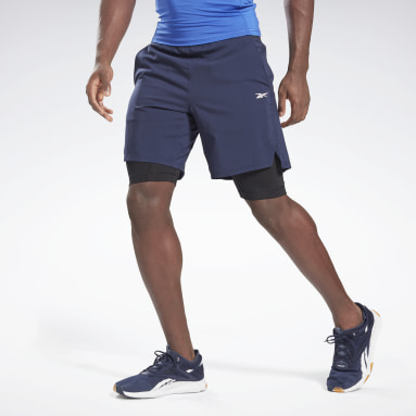 Men Trail Running Blue Epic Two-in-One Shorts