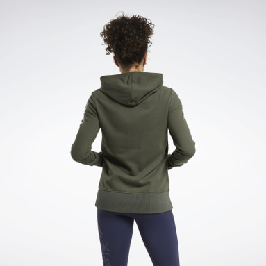 Women Cross Training Green CrossFit® Forging Elite Fitness Hoodie