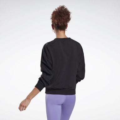 Women Fitness & Training Black MYT Crew Sweatshirt