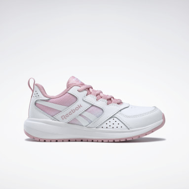 Girls Running White Reebok Road Supreme 2 Shoes - Preschool