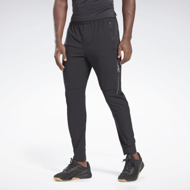 Men Fitness & Training Black Performance Track Pants
