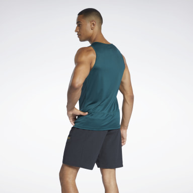 Men Trail Running Green Running Essentials Singlet