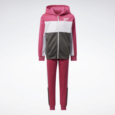 Mädchen Fitness & Training Two-Piece Reebok Colorblock Set Rosa