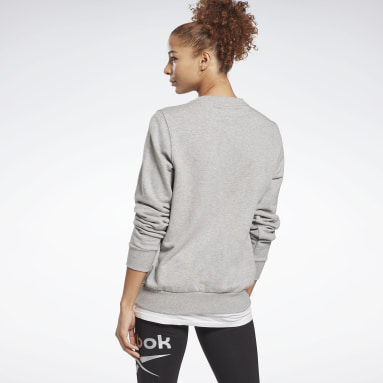 Sweat à col rond Reebok Identity Logo French Terry Gris Femmes Fitness & Training