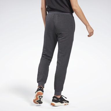 Women Fitness & Training Black Textured Joggers
