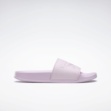 Women Swimming Pink Reebok Fulgere Slides