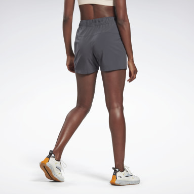 Women Running Grey Night Run 3-Inch Shorts