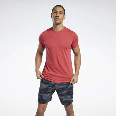 T-shirt Workout Ready Jersey Tech Rosso Uomo Yoga