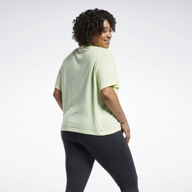 Women Training Yellow Reebok Identity T-Shirt (Plus Size)