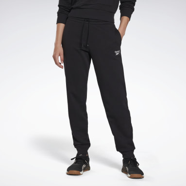 Women Fitness & Training Black Reebok Identity French Terry Pants