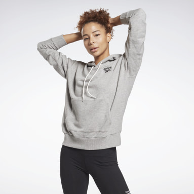 Women Fitness & Training Grey Reebok Identity French Terry Hoodie