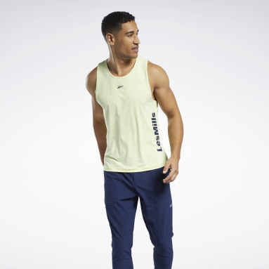 Men Pilates Yellow Les Mills® Activchill Tank Top