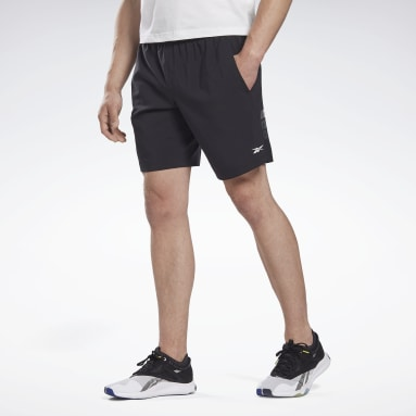 Men Studio Black LES MILLS® 9-Inch Shorts