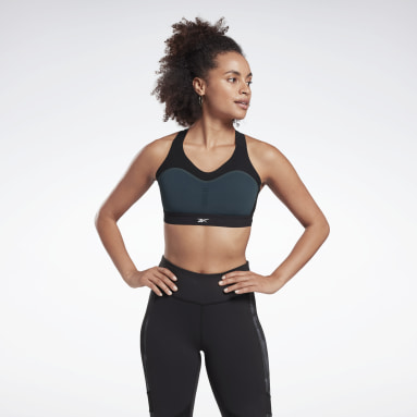 Women Studio Black Reebok LES MILLS® PureMove Bra Motion Sense ™