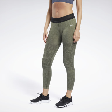 Legging MyoKnit 7/8 sans coutures United By Fitness Vert Femmes HIIT