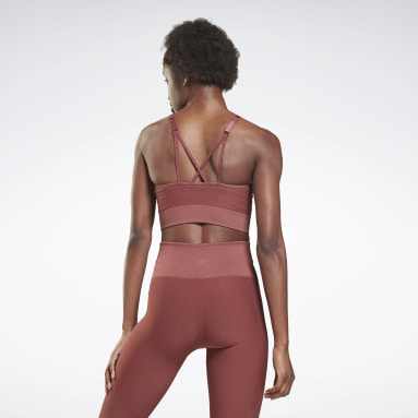 Women Studio Red Les Mills® Strappy Seamless Sports Bra