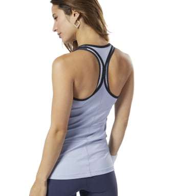 Women Studio Blue LES MILLS® Second Skin Tank Top