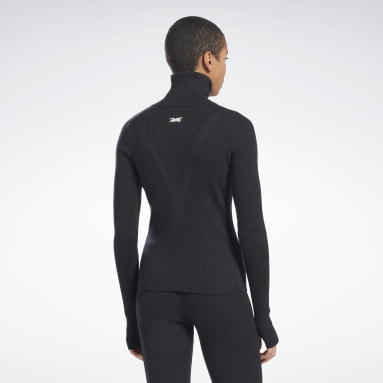 Frauen Fitness & Training VB Roll Neck Sweater Schwarz