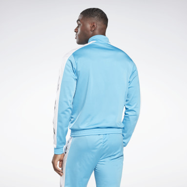 Men Fitness & Training Turquoise Training Essentials Vector Track Top