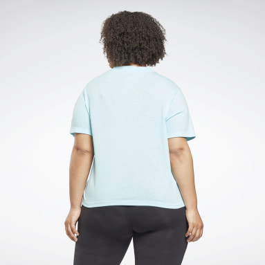 Women Dance Reebok Identity Cropped T-Shirt (Plus Size)