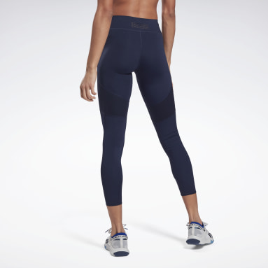 Women Pilates Blue Les Mills® PureMove Leggings Motion Sense ™