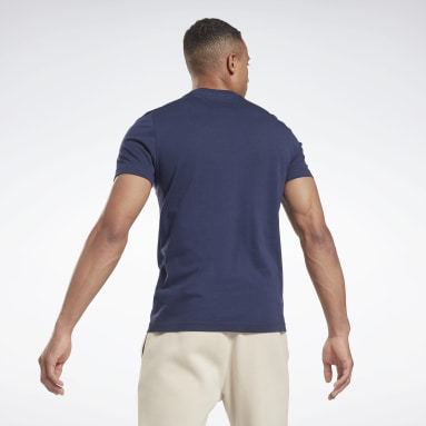 Men Fitness & Training Blue Elevated Graphic T-Shirt