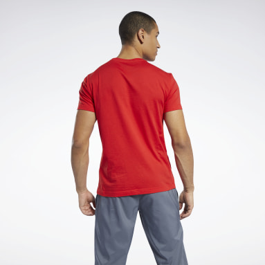 T-shirt Graphic Series Linear Logo Rouge Hommes Fitness & Training