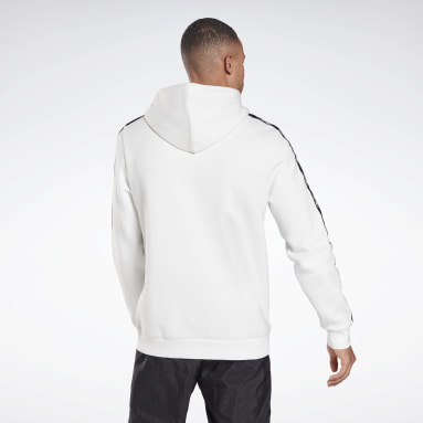 Männer Fitness & Training Training Essentials Tape Hoodie Weiß